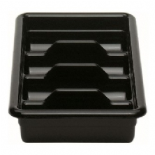 Black 4 Compartment Cutlery Box