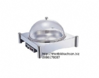 Round stainless steel wet electric hot pot rack 121386