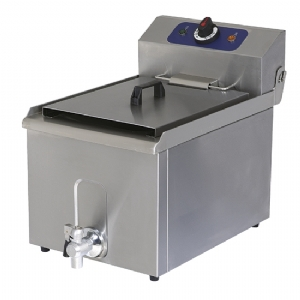 Electric fryer with drain tap, tabletop, oil capacity 8 litres 1240G
