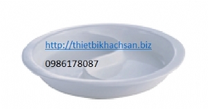 Ceramic double grid round bowl for dining stove 126571,126572