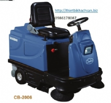 DRIVING TYPE SWEEPING MACHINE WITH BATTERY & CHARGER (220V) CB-2006