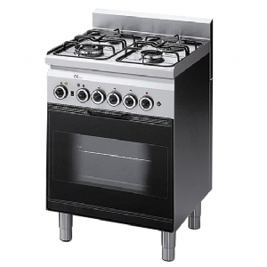 Gas range, 4 burners, 1 gas oven with electric grill 6060CFG