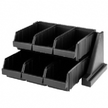 Black Versa Self Serve Condiment Bin Stand Set