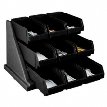 Self Serve Condiment Bin Stand Set with 3-Tier Stand