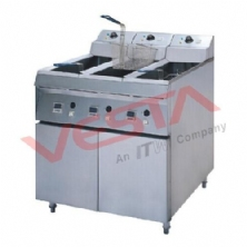 Floor Type Single Cylinder Double Sieve Electric Fryer