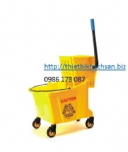 XÊ DẨY LAU SÀN, 24L SINGLE MOP TROLLEY B-040C