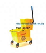 XÊ DẨY LAU SÀN, 32L SINGLE MOP TROLLEY B-040D