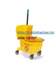 XE DẨY LAU SÀN, 36L SINGLE MOP TROLLEY B-040