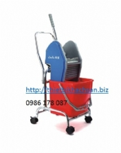XÊ DẨY LAU SÀN, 30L SINGLE MOP TROLLEY B-044