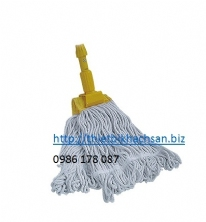 CÂY LAU NHÀ (CÁN 1.25M), STANDARD CLAMPING MOP WITH CLIP WITH STANDARD HANDLE(1.25m stick) C-201