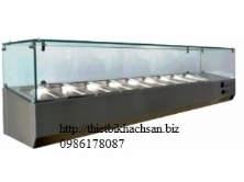 1.6m Static Cooling Countertop Display Showcase FRCR-1-7