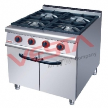 Gas Range 4-Burner With Cabinet JUS-RA-4