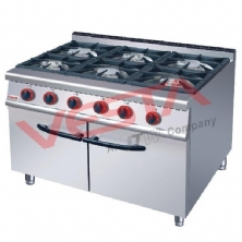 Gas Range 6-Burner With Cabinet JUS-RA-6