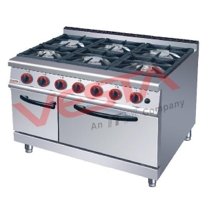Gas Range 6-Burner&Gas Oven JUS-RQ-6