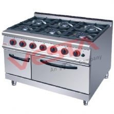 Gas Range With 6-Burner Gas Oven JZH-RQ-6