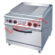 Gas Griddle (2/3 Flat&1/3 Grooved)With Gas Oven JZH-RU(F)