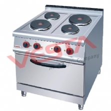 Electric 4-Plate Cooker With Electric Oven JZH-TT-4