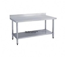 SS304 Work Bench With Splashback (Square leg)