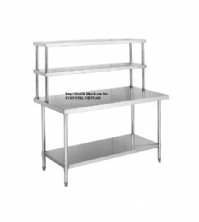 SS304 Work Bench With Double Overshelf