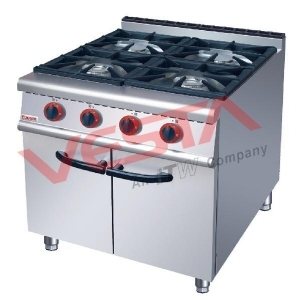 Four-head gas cooker with cabinet US-RA-4