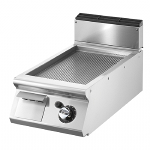 Gas griddle, top version, ribbed chromed plate  V7040FTRGVCRT