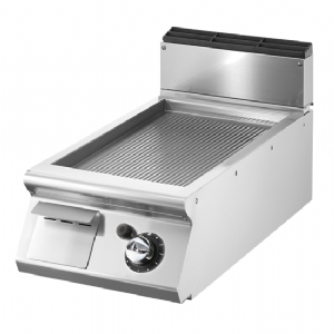 Gas griddle, top version, ribbed chromed plate V9040FTRGVCRT