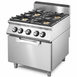 Gas range on static gas oven GN 2/1, 4 burners VS7080CFG