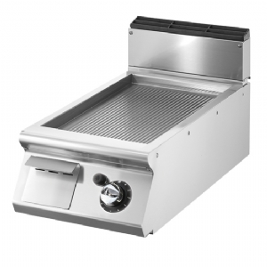 Gas griddle, top version, ribbed plate VS9040FTRGVT