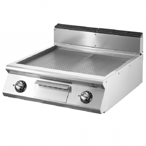 Electric griddle, top version, ribbed chromed plate VS9080FTRREVC