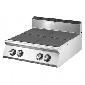 Electric cooking hop with 4 tilting plates each 4 kW VS9080PCERT