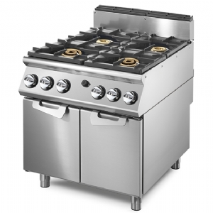 Gas range with 2 burners each 16 kW and 2 burners each 6 kW on cabinet with doors VS9080PCGPPW