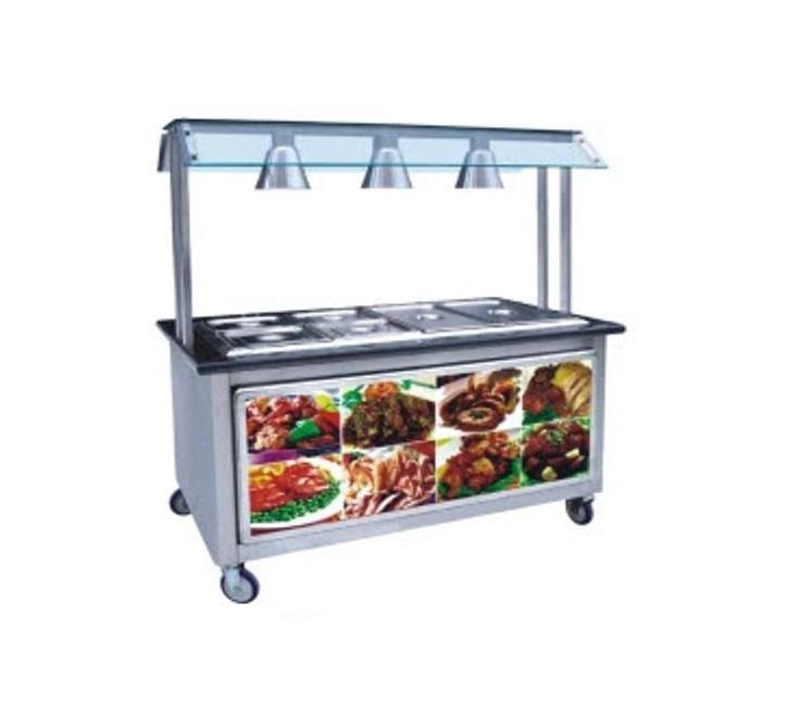 Bếp Bain Marie 6 khay (nóng), dùng điện