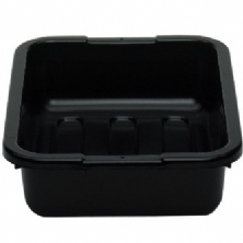 Black Polyethylene Plastic Bus Box with Ribbed Bottom 1520CBP110