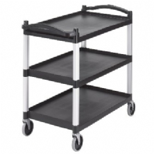 Black Three Shelf Utility Cart (Unassembled) BC340KD110