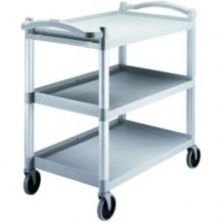 Gray 3 Shelf Knockdown Utility Cart BC340KD480