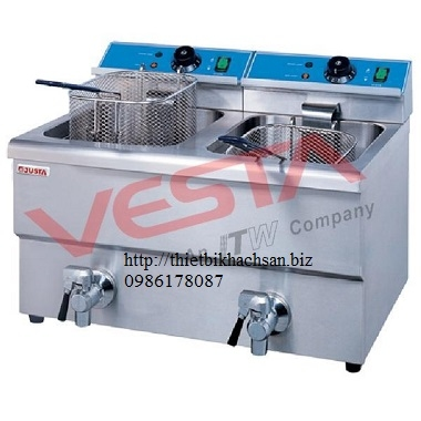 Electric 2-Tank Fryer 2-basket,counter-top EF-12L-2