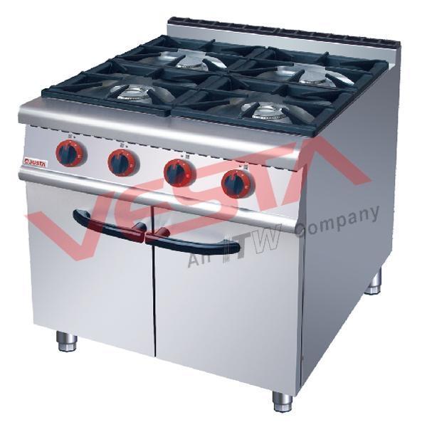 Gas Range 4-Burner With Cabinet JUS-RA-4