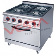 Gas Range 4-Burner Gas Oven JUS-RQ-4
