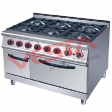 Gas Range With 6-Burner Electric Oven JZH-TQ-6