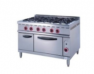 Gas Range With 6-Burner Electric Oven ZH-TQ-6